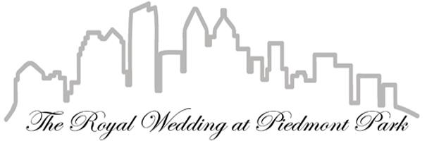 royal wedding at piedmont park