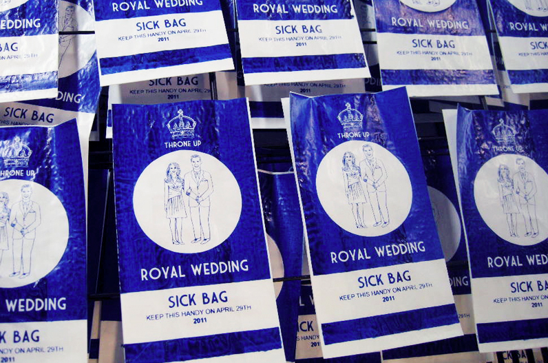 royal wedding custom plastic bags