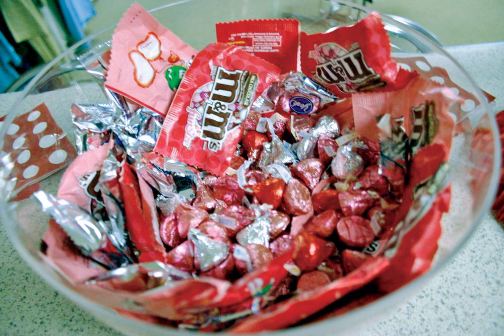 Bowl of Chocolate Candy