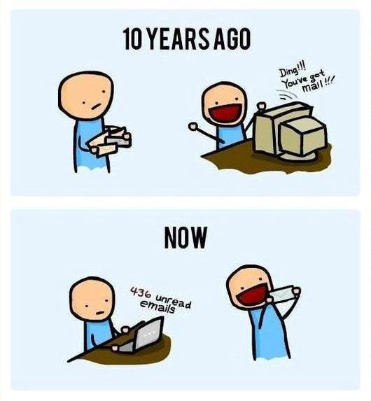 Funny letters vs emails