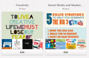 Creativity and Social Media Pinboards