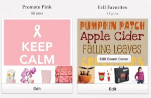 Promote Pink and Fall Favorites PInboards