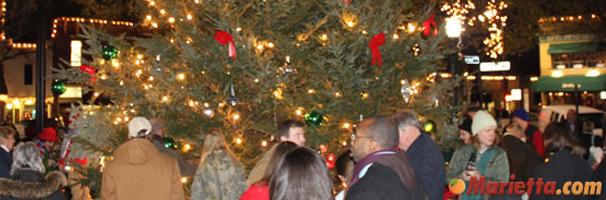 Marietta Square Tree Lighting