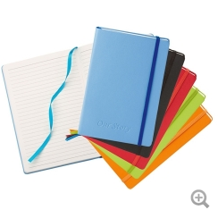 "NeoSkin® 5 ½"" x 8 ¼"" Hard Cover Promotional Journal"
