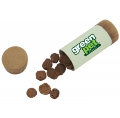 Natural dog treats in a tube