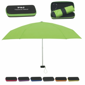 "37"" Arc Promotional Umbrella with Travel Case"