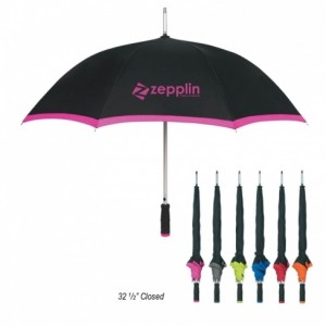 46 in. Arc Edge Two Tone Imprinted Umbrella