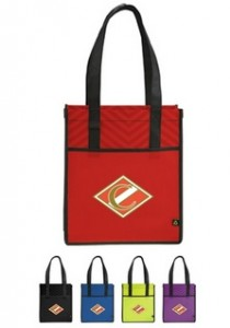Printed PolyPro Chevron Shopper Tote