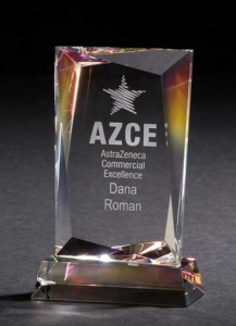 Achievement Dichroic Crystal Employee Award