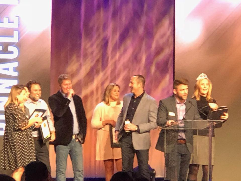 Pinnacle Promotions accept Gold Technology Awards at PPAI Expo 2018