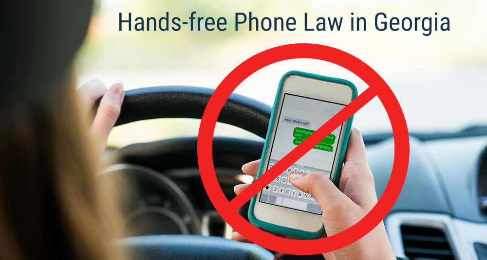 Hands-free phone law in Georgia