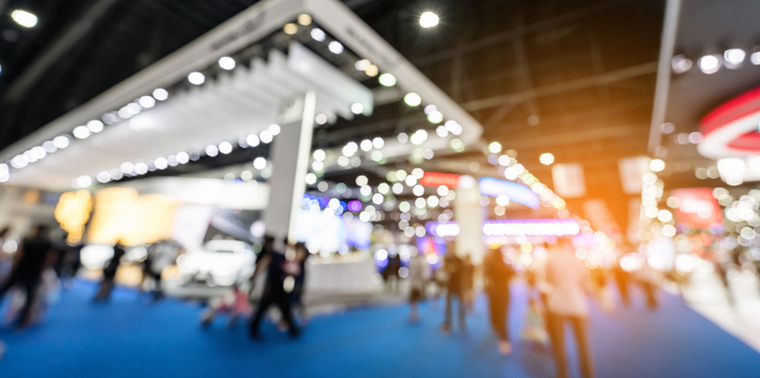 trade show floor | 13 trade show hacks | Pinnacle Promotions