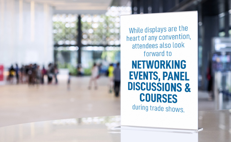 trade show networking | 13 trade show hacks | Pinnacle Promotions