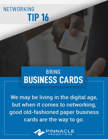 Networking Tip - Business Cards