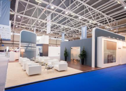 Geometric Trade Show Furniture