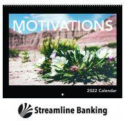 Motivations Spiral Bound Wall Calendar
