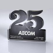 Freestanding 25 Year Anniversary Award