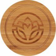 Round Bamboo Coaster Set with Holder