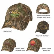 Realtree And Mossy Oak Hunter's Hideaway Camouflage Cap