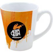 Full Color Stoneware Coffee House Mug - 12 oz.
