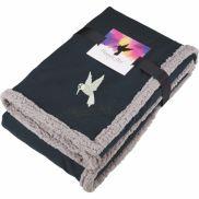 Field & Co. Oversized Wool Sherpa Blanket w/ Card