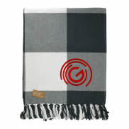 Field & Co. 100% Organic Cotton Check Throw Blanket