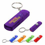Whistle, Light & Compass Keychain