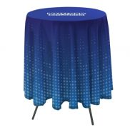 """Bar Height Round Full Color Table Throw w/ 33.25"""" Overhang"""