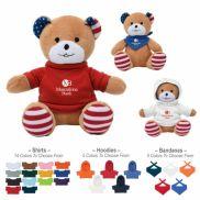 "6"" Patriotic Bear Stuffed Animal"