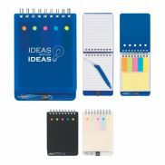 Spiral Jotter w/ Sticky Notes, Flags, & Pen