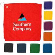 """15"""" x 15"""" Hemmed Color Golf Towel"""