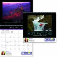 Motivations 12 Month Calendar with Inspirational Quotes
