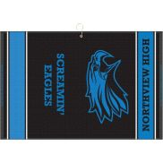 "Designer Woven Golf Towel w/ Scrubber - 16"" x 24"""