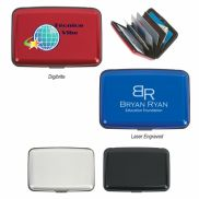 Aluminum Push Button Card Case