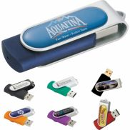 Domeable Rotate Flash Drive - 2GB