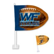 "Football Shaped Car Flag - 11"" x 15"""