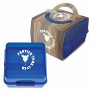 Split-Level Lunch Container w/ Custom Handle Box