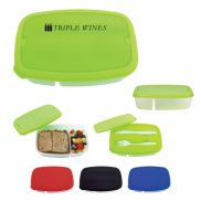 2-Section Lunch Container w/ Custom Handle Box