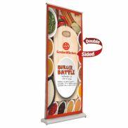 """33.5"""" Dry Erase Deluxe Pro Retractor Double-Banner Kit"""