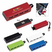 4-Port Traveler USB Hub w/ Phone Stand