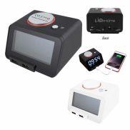 Homtime 3-in-1 Alarm Clock w/ Speaker