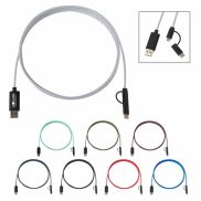 3-in-1 10 Ft. Braided Charging Cable