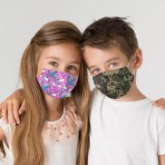 Youth Dye Sublimated 2-Layer Reusable Face Mask