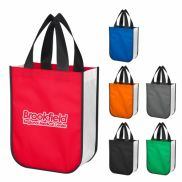Nonwoven Shopper Tote Bag With 100% Rpet Material