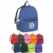 """Budget Polyester Backpack - 12"""" W x 16.5"""" H x 5"""" D"""
