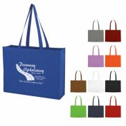 """Non-woven Shopper Tote with Hook and Loop Closure - 20.5"""" x 15 5/8"""""""
