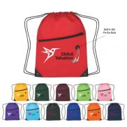 """Polyester Sports Pack with Front Zipper - 13.5"""" x 18"""""""