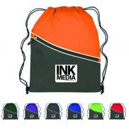 "Two-Tone Cinch Bag - 14"" x 18"""