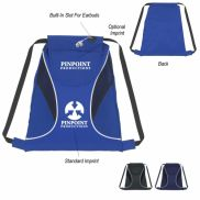 """Sports Cinch Pack With Mesh Sides - 14.5""""  x 17"""""""