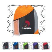 """Tri-Color Mesh Pocket Cinch Pack - 13"""" x 17.75"""""""